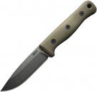 Reiff Knives F4 Bushcraft Survivalmesser Oliv Kydex