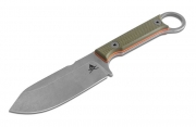 White River Knife Firecraft 3.5 Green Orange G10