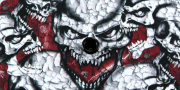 Kydex Cracked Skull Blizzard White Infused 2mm 30x30