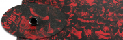Kydex Reaper Black Blood Red infused 2mm 15x30 cm