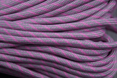 Paracord 550 Bubble Gum Pink & Smoke Grey - Helix DNA Paracord Type III