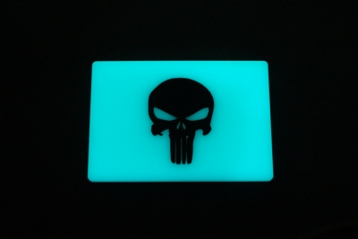 TEC Accessories BEACON Patch Aqua Punisher GITD