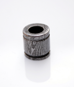Damascus Lanyard Bead Barrel