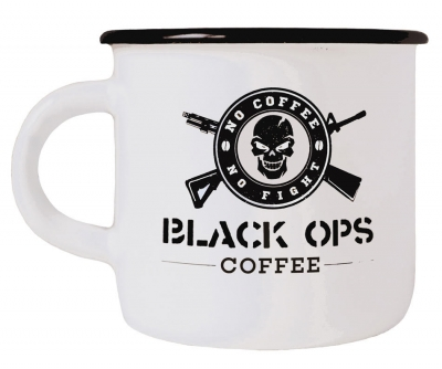 Black Ops Coffee OPERATOR MUG – EMAILLE BECHER HEAVY DUTY WEIS
