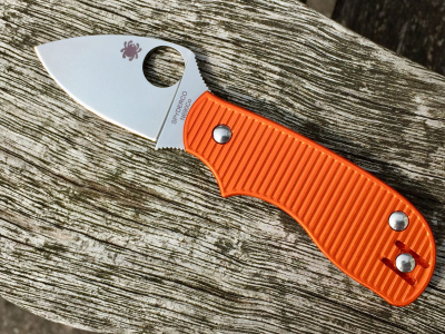 Oakedge Griffschalen / Scales für Spyderco Squeak - Orange