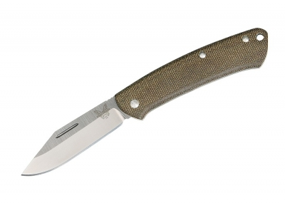 Benchmade 318 Proper Dark Brown Canvas Micarta Taschenmesser
