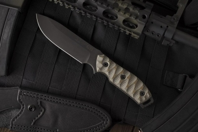 White River Knife / Knives M1 GTI 4.5 Canvas Black Olive Micarta