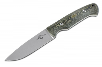 White River Knife / Knives M1 Hunter Canvas Black Olive Micarta