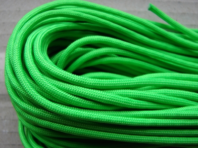Paracord 550 / neon green / Meterware / 1 m