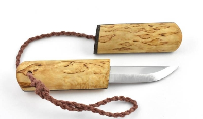 Eräpuu Curly Birch Pocket Knife nordisches neckknife puukko
