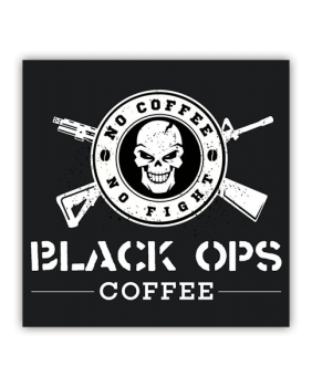 "Black Ops Coffee Aufkleber ""No Coffee no Fight""!"
