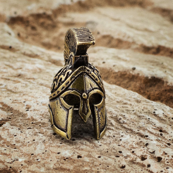 Lanyard Bead Spartan Helmet Wulst 'Gold' (Custom-Made)