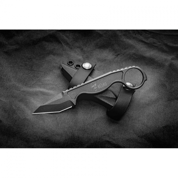 Flagrant Beard Havoc Neck Knife Schwarz