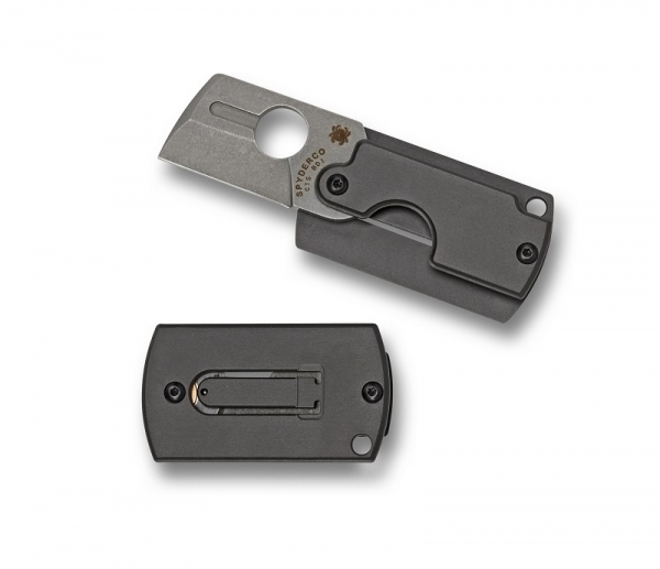 Spyderco C188ALP Dog Tag Folder 4th Gen Aluminium