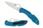 Spyderco C11FPBL Delica 4 Flat Ground FRN Blue